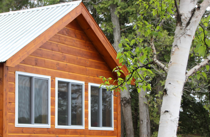 Cabin exterior at Fernleigh Lodge.
