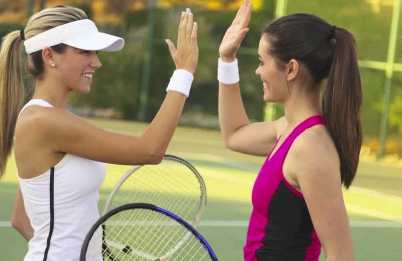 Tennis at Rumbling Bald Resort.