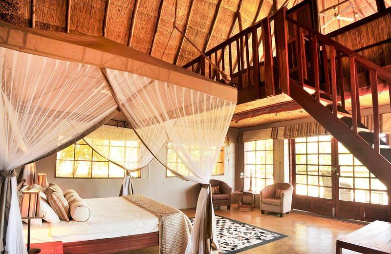 Guest room at Kafunta River Lodge.
