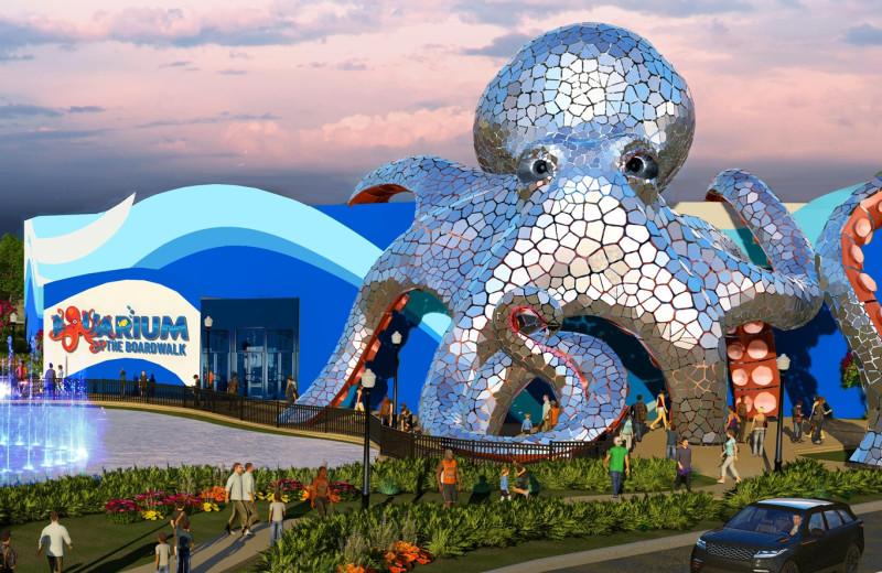 Aquarium near Amazing Branson Rentals.