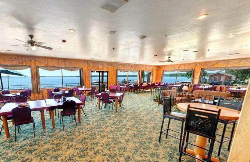 Dining area at Hiawatha Beach Resort.