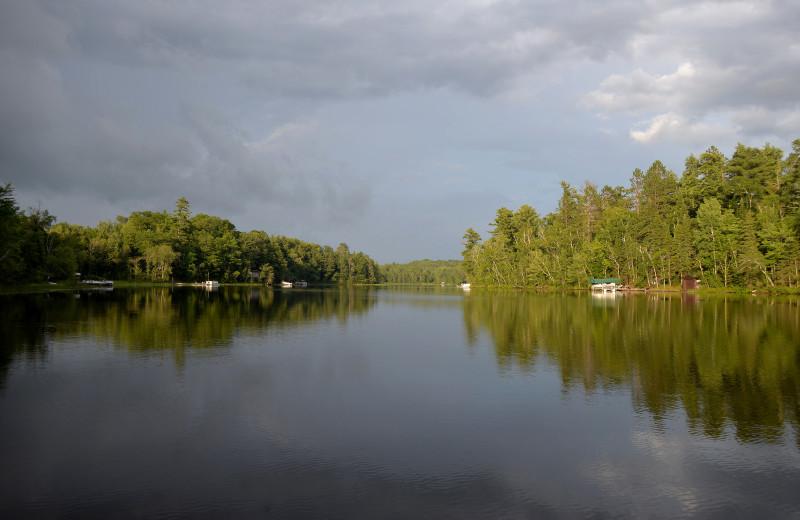 Lake view at Hanging Horn Lakeside Resort.