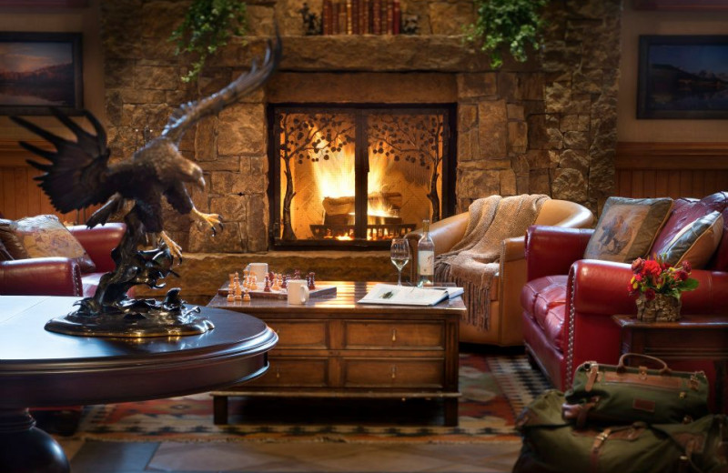 Lobby at Wyoming Inn of Jackson Hole.