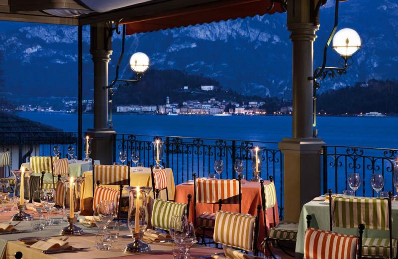 Dining at Grand Hotel Tremezzo.