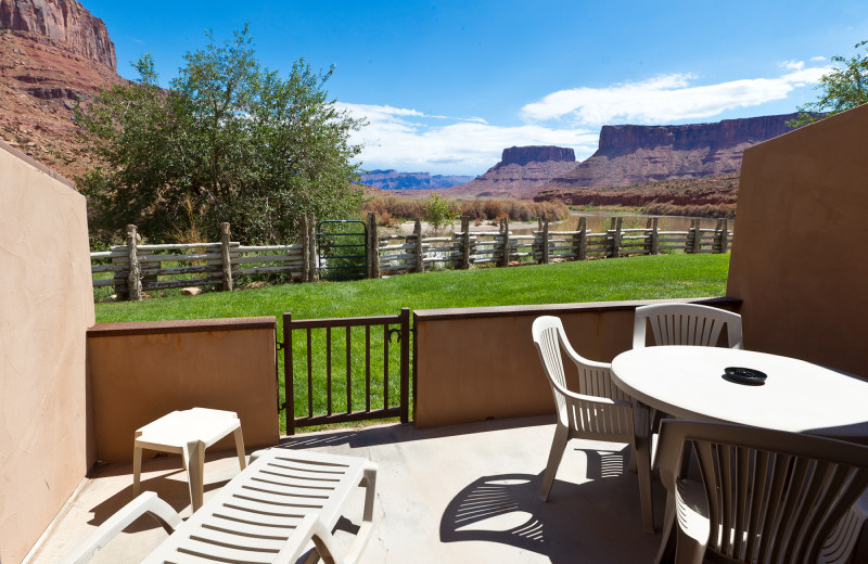 Patio at Red Cliffs Lodge.