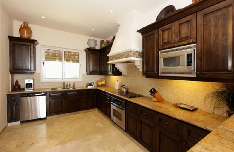 Rental kitchen at Luxury Villa Collections.