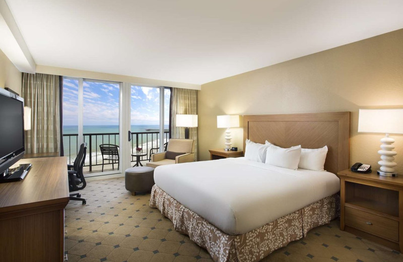 Guest room at Hilton Myrtle Beach Resort.