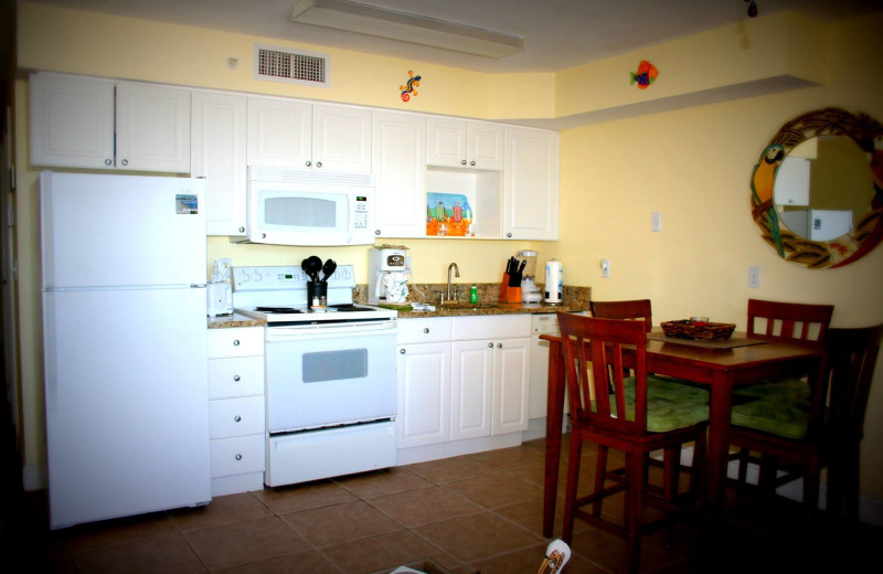 Guest kitchen at Casa Playa Resort.