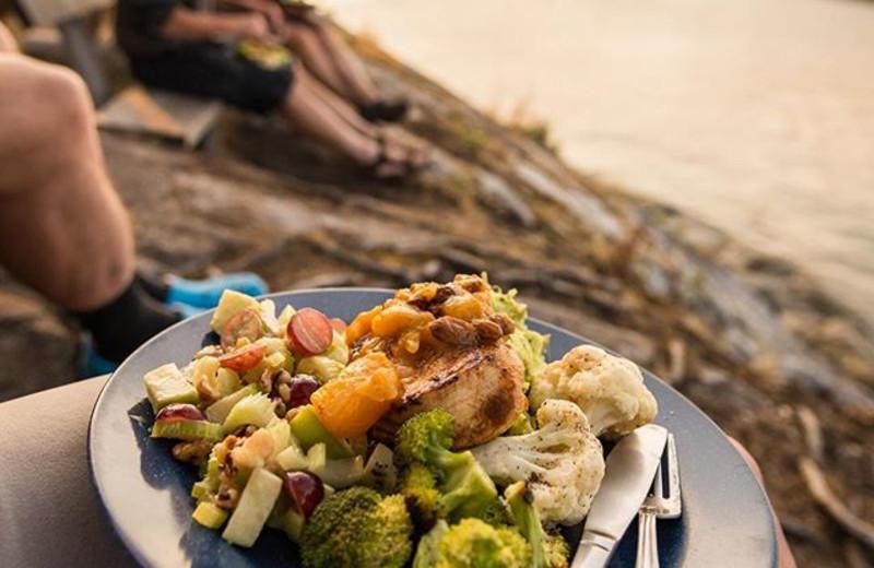 Dining at Orca Camp.