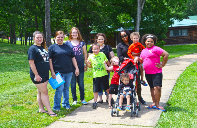 Family at YMCA Trout Lodge & Camp Lakewood.