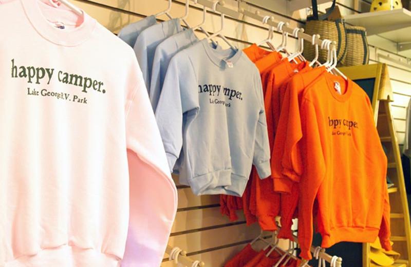 Merchandise at Lake George RV Park.