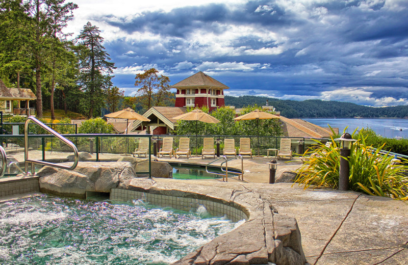 Outdoor pool at Poets Cove Resort & Spa.