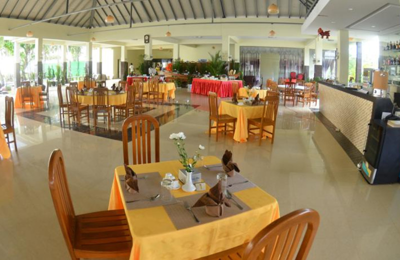 Dining at Blue Oceanic Beach Hotel.