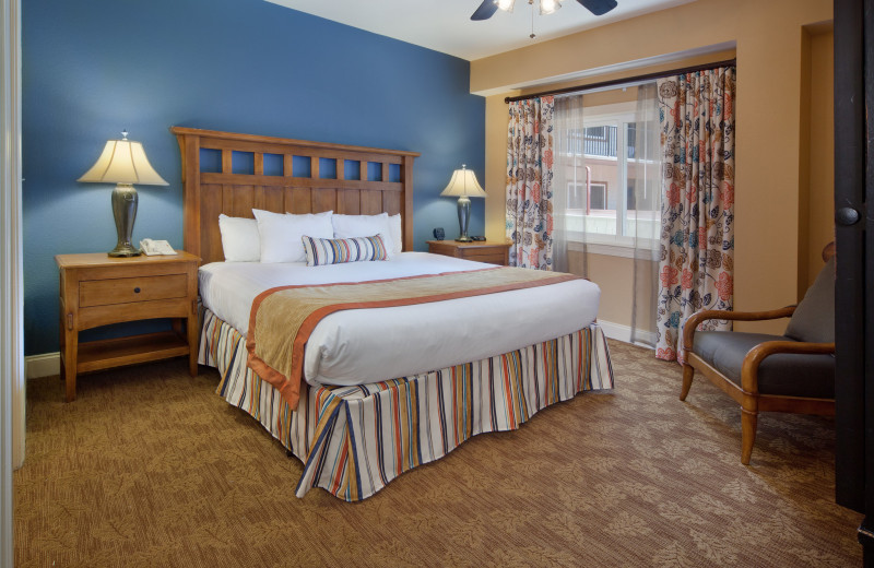 Guest bedroom at Holiday Inn Club Vacations Smoky Mountain Resort.