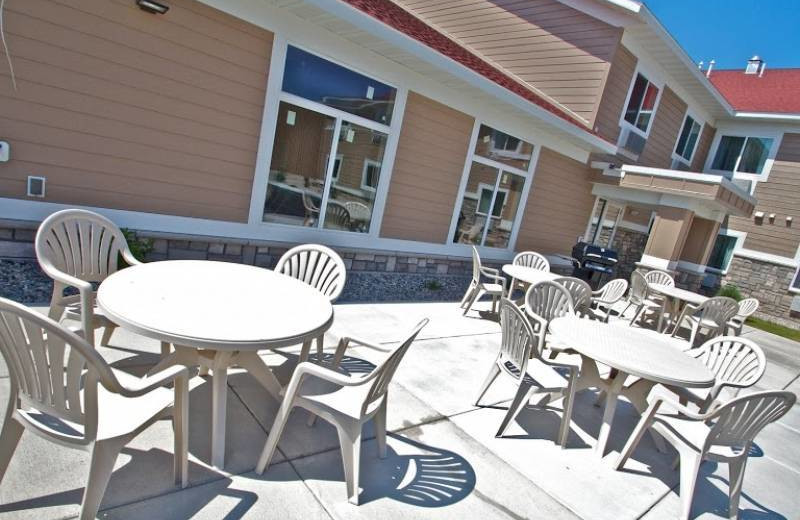 Patio at GrandStay Parkers Prairie.