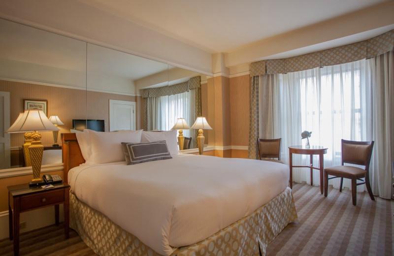 Guest room at Prescott Hotel.