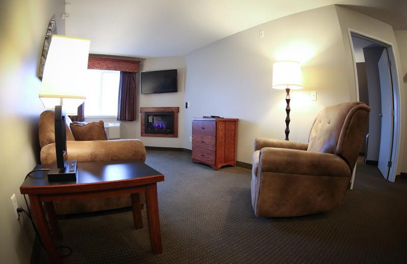 Guest suite at GrandStay Perham.