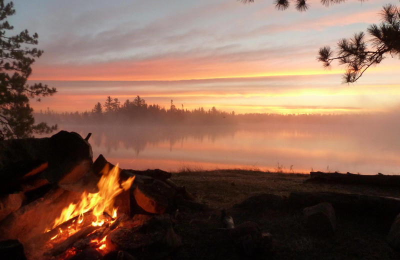 Campfire at Zup's Fishing Resort and Canoe Outfitters.