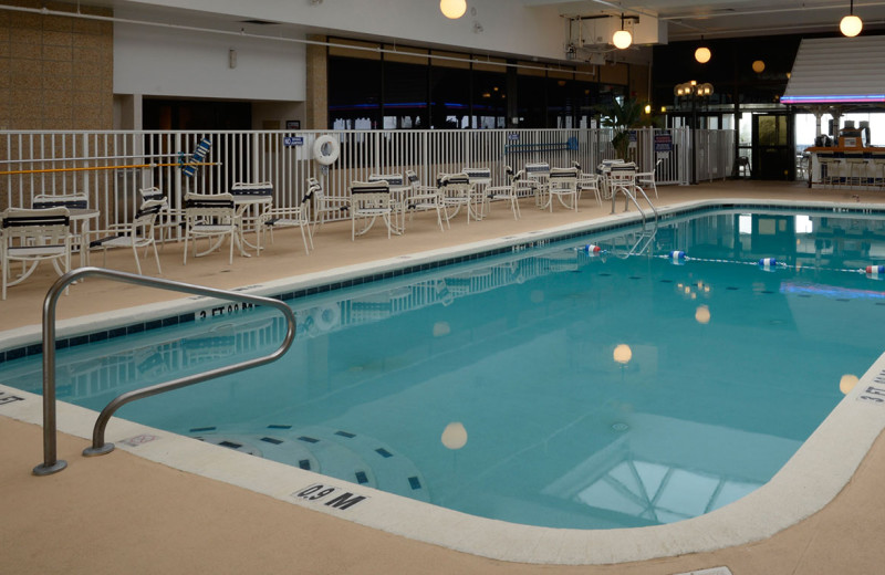 Indoor pool at Clarion Resort Fontainebleau.