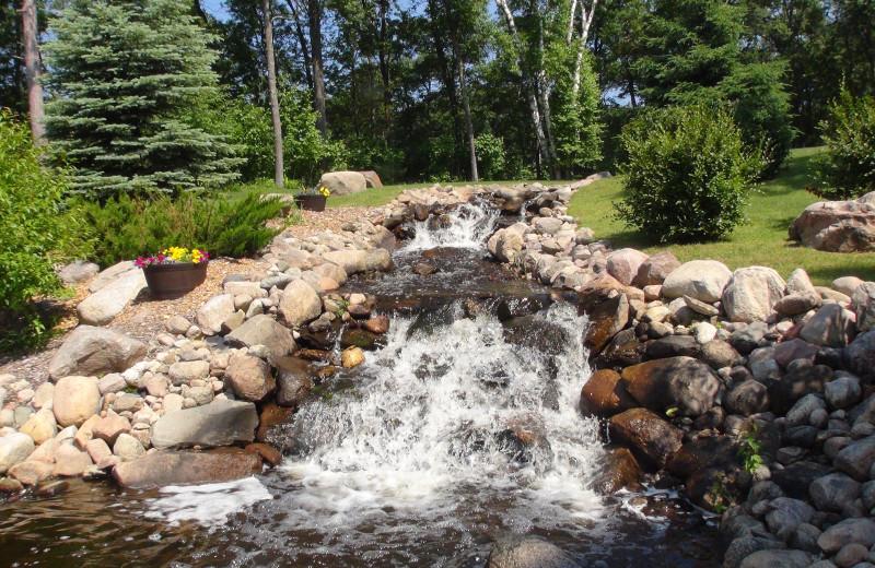 Fountain at Kavanaugh's Sylvan Lake Resort.