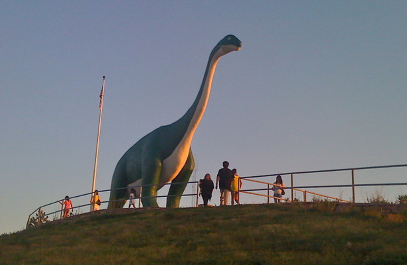 Dinosaur near Canyon Lake Resort.