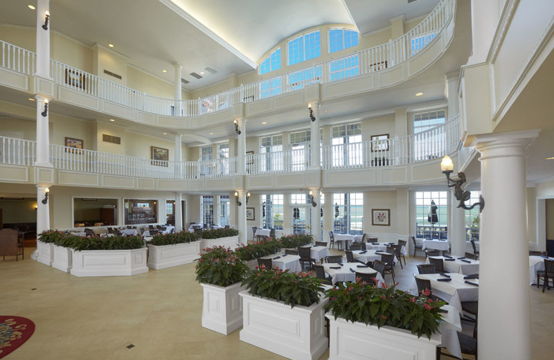 Lobby at Blue Harbor Resort and Spa.