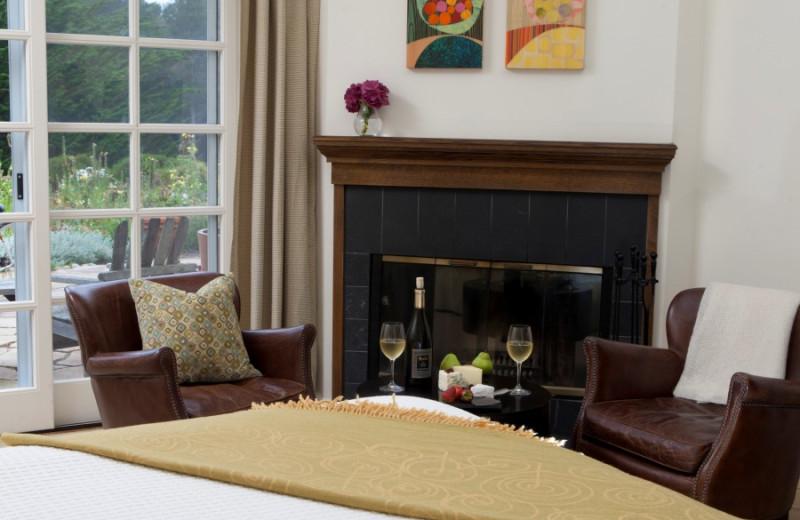 Guest bedroom at Seal Cove Inn.
