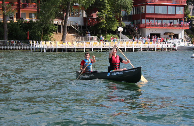 Enjoy a relaxing canoe ride on West Lake Okoboji