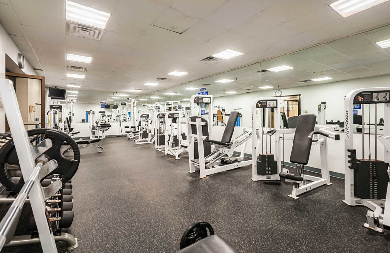 Fitness room at Clarion Resort Fontainebleau Hotel.