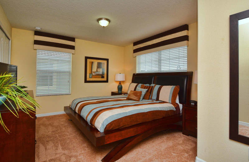Rental bedroom at Vacation Pool Homes.