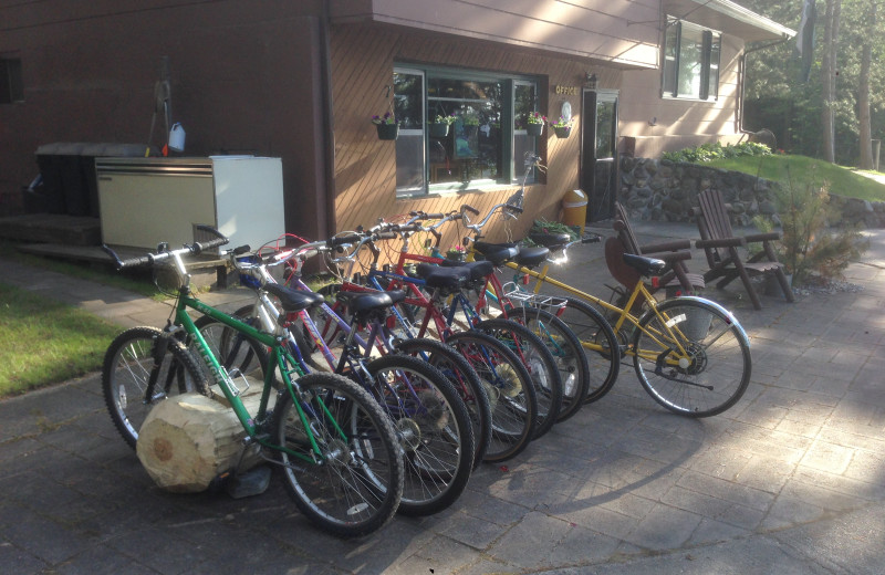 Bikes at Cabin O'Pines Resort & Campground.