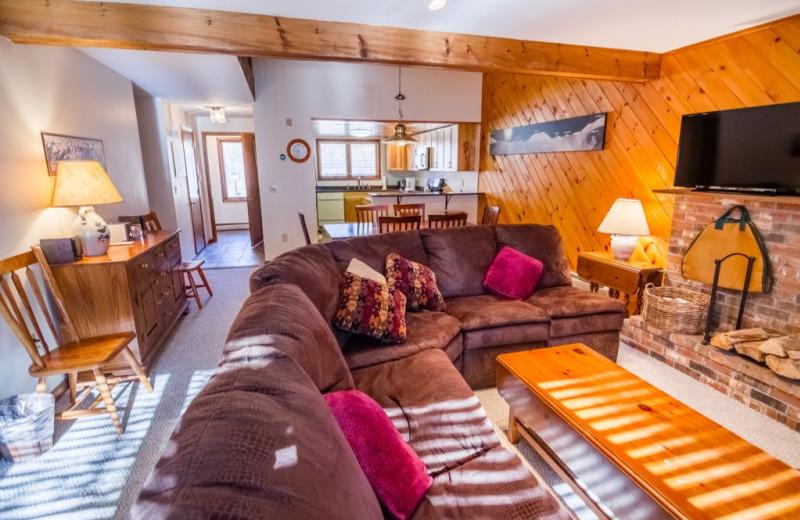 Rental living room at The Killington Group.