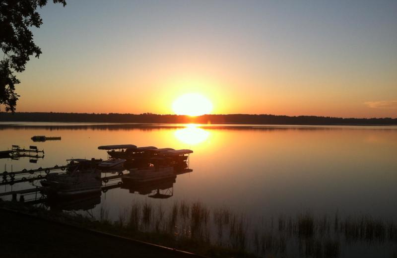Sunrise at Finn'n Feather Resort.