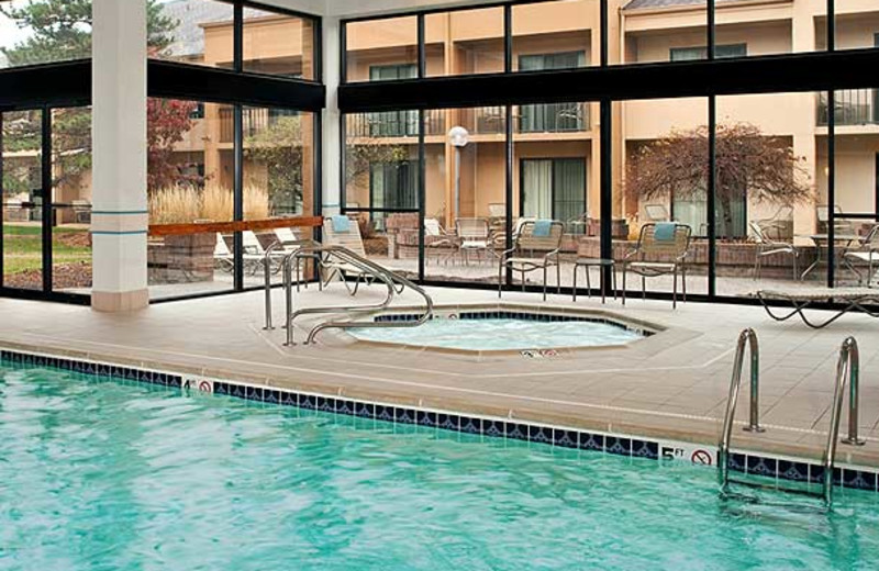 Indoor pool at Courtyard by Marriott Detroit Troy.