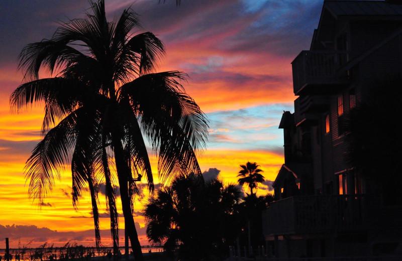 Sunset at Edison Beach House.
