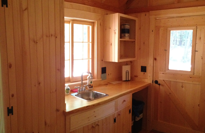 Cabin cabinets at Rockywold-Deephaven Camps.