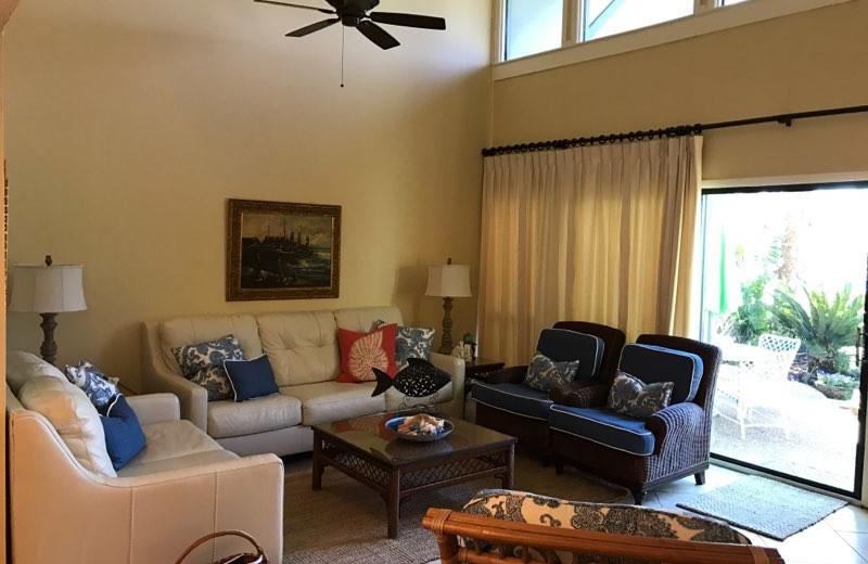 Rental living room at Sunnyside Beach