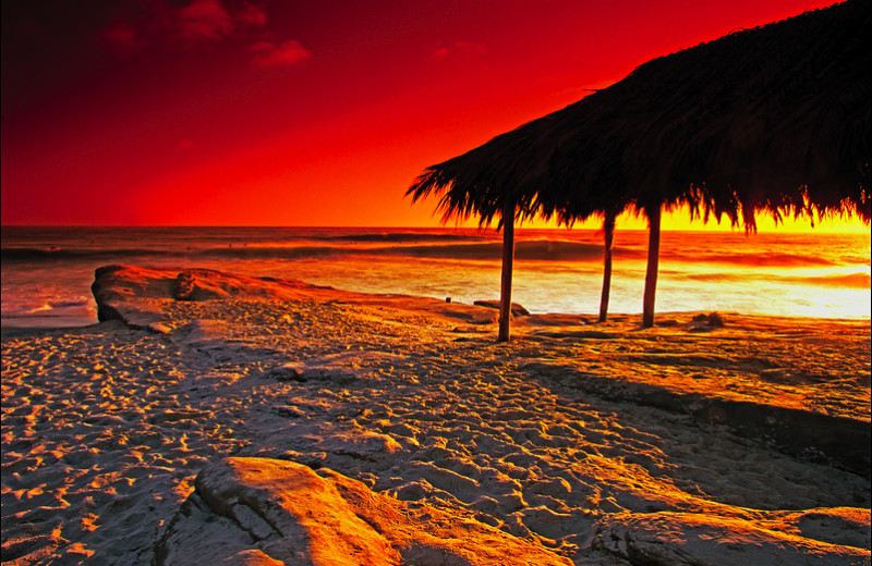 Beach sunset at Seabreeze Vacation Rentals, LLC.