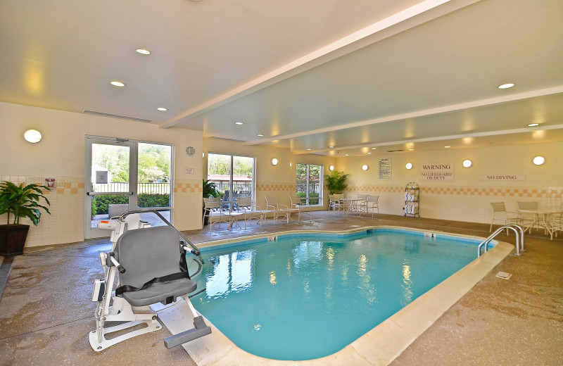 Indoor pool at Fairfield Inn