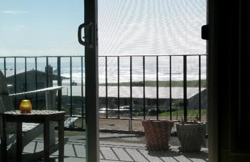 Balcony view of Gearhart by the Sea.