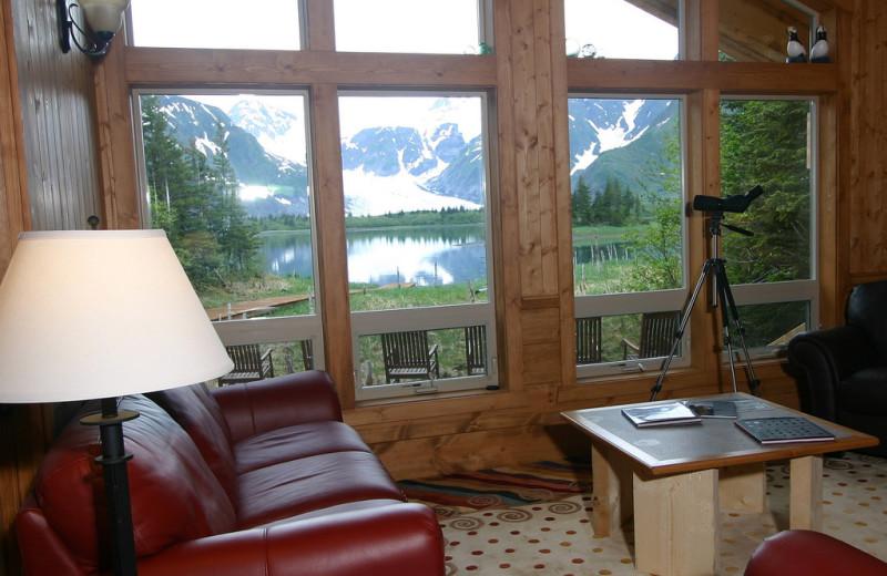 Lodge view at Kenai Fjords Glacier Lodge.
