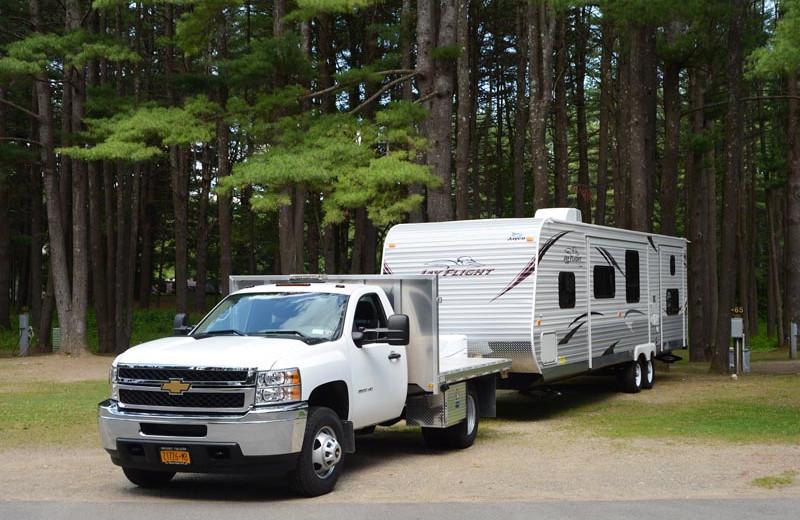 RV campground at Lake George RV Park.