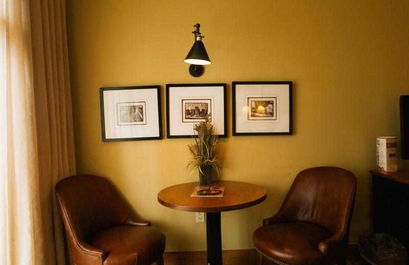 Sitting area at Teton Springs Lodge.