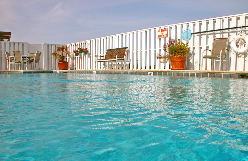 Outdoor pool at Oasis Suites.