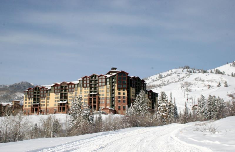 Winter exterior at Grand Summit Resort Hotel.