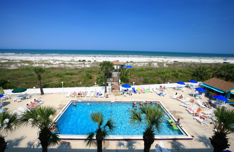 Outdoor pool at Holiday Isle Oceanfront Resort.