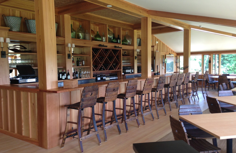 Wine bar at The Leland Lodge and Conference Center.