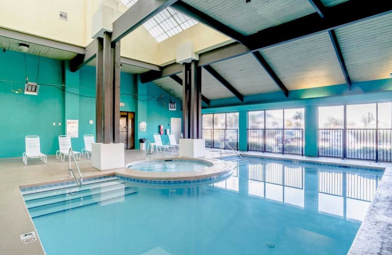 Rental indoor pool at Sugar Sands Realty & Management.