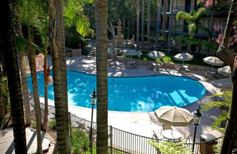 Outdoor pool at Radisson Suites Hotel Covina.