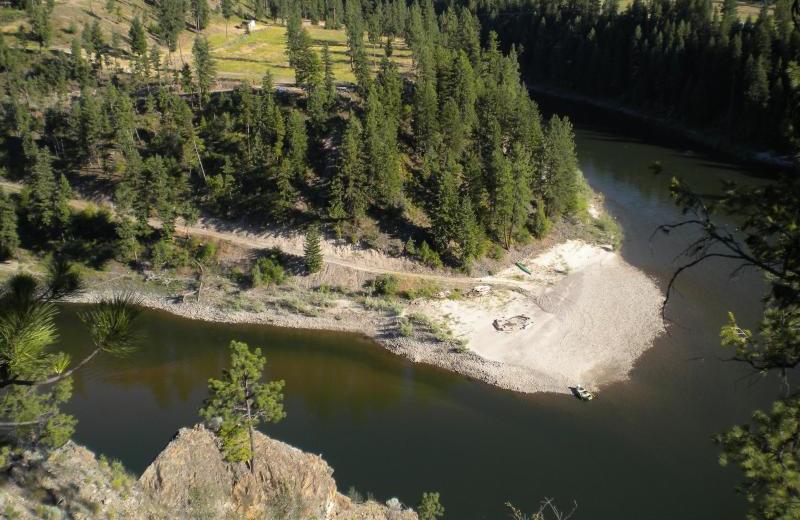 River at Montana River Lodge.